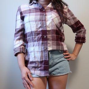 Garage Boyfriend Fit Flannel Shirt Small
